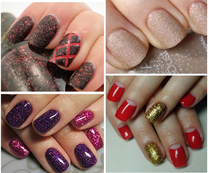 примеры дизайна с песочком для ногтей
